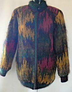 Jeffery trui Mohair uitstekende jas Vintage staat maat 14 Brownleader tdqxO6n1