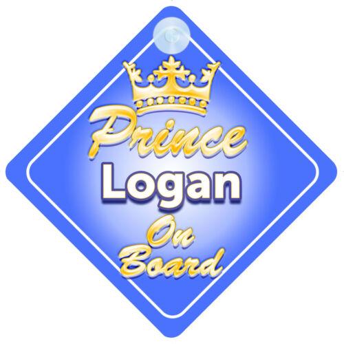 Crown Prince Logan a bordo personalizada bebé niño Coche Señal