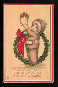 Artist Signed Vintage Postcard Price , Stecher Christmas Greetings 738C