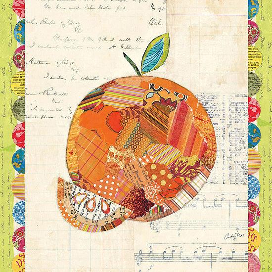 Courtney Prahl  Fruit Collage IV - Orange Keilrahmen-Bild Leinwand Obst Früchte