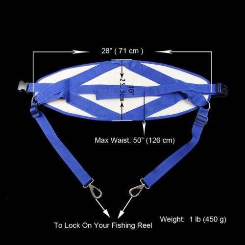 Big Game Fighting Stand Up Back Harness with Belt Offshore Trolling Jigging