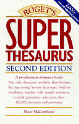 Roget's Superthesaurus, Marc McCutcheon, Very Good Book