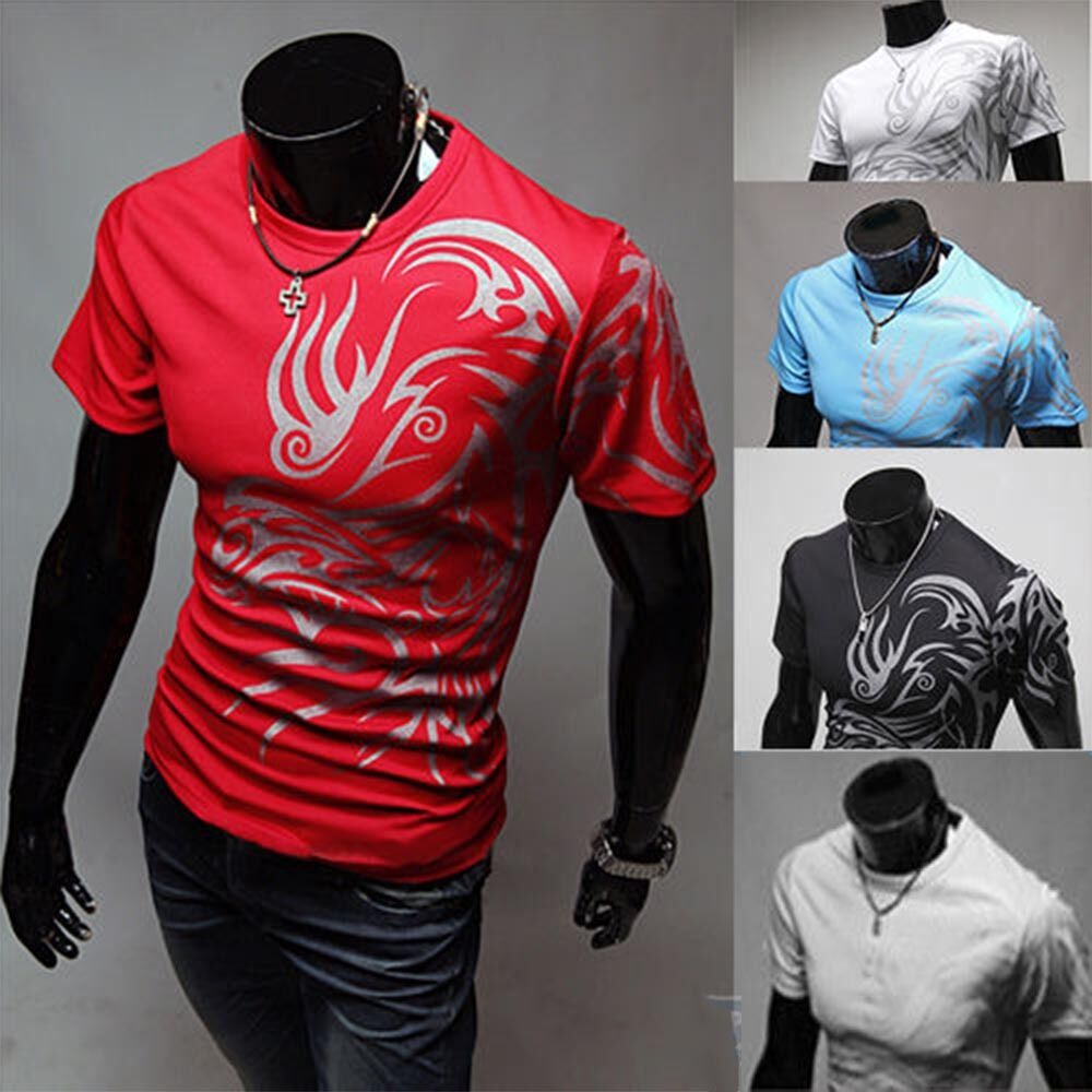 Men Slim Fit Short Sleeve Polo Tee Tops Stylish Summer Casual T-Shirts M-3XL 3
