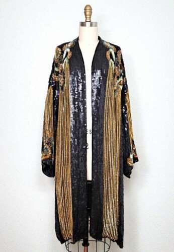 Vintage Judith Ann Creations - Gold Sequin Kimono