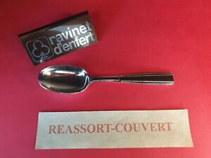 Spoon-Desserts-17-cm-Navarre-Ravinet-D-Enfert-Beautiful-Condition-Metal-Silver