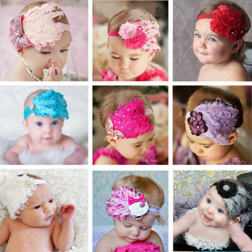 Girl Feather Headband Toddler Hair Accessories Band Baby Headdress Kids Headwear