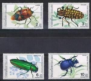 Thailand-postfris-1989-MNH-1342-1345-Insect-Insekten