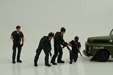 Police Polizei Swat Team Set 4 Figurines Figur 1:24 Figures American Diorama