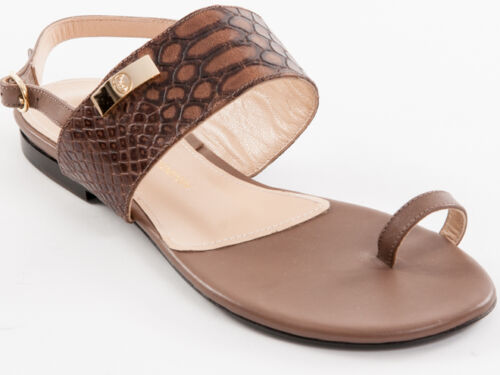 New Roberto Serpentini Brown Leather Sandals Made in Italy Size 36 US 6