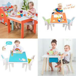 Children Wooden Animal Table And Chairs Sets Kids Learning Playroom Furnitures Ebay
