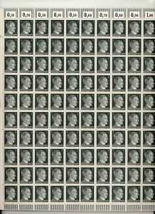 Lot-Stamp-Germany-10-Sheet-1941-WWII-Third-Reich-Hitler-Selection-MNH-F