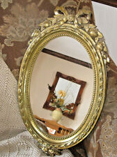 22 x12 Vintage Resin Wall Gold Ornate Mirror Hollywood Regency Chic Decor Homco