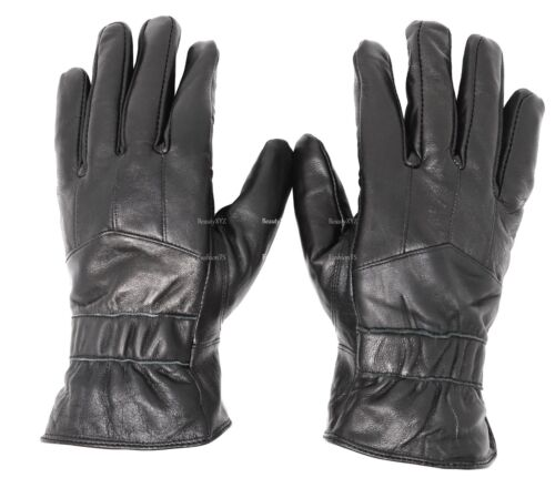 New Men/'s Classy 100/% Leather Winter Warm Gloves w// Fur Lined Driving Gloves
