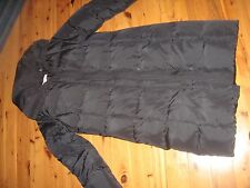 WOMENS SMALL CALVIN KLEIN LONG DUCK DOWN WINTER JACKET COAT BLACK