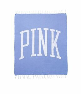 New Victoria's Secret PINK 2017 LE Festival Beach Blanket Throw Blue Legend