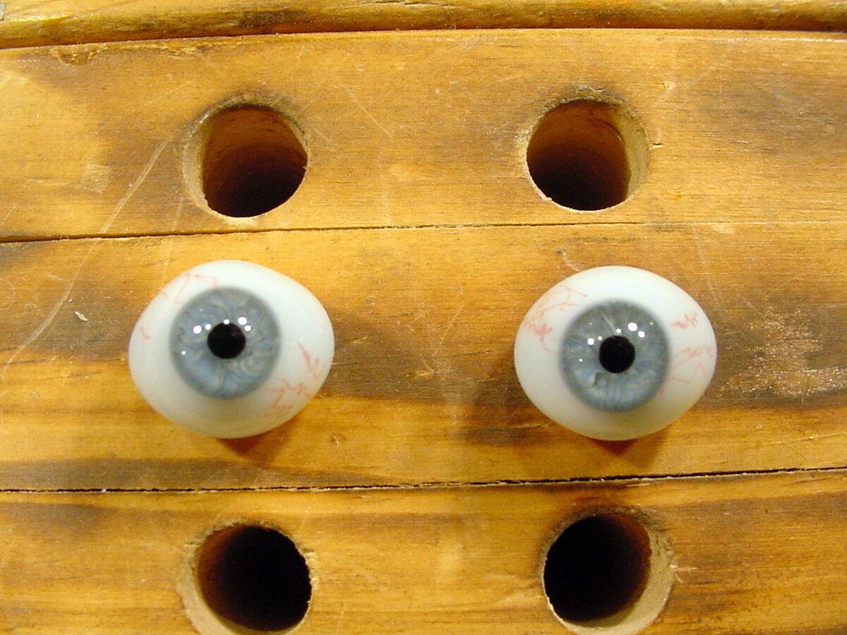 Vintage Par De Ojos De Vidrio Con Muñeca Biscuit venas para Ø 15 mm edad 1910 lausch a 1494