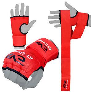 EVO-BOXING-BAG-INNER-Gel-Guanti-MMA-lottando-Hand-Wraps-Arti-Marziali-BENDE