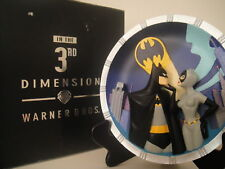 WARNER Bros BATMAN CATWOMAN COLLECTOR'S PLATE 3D JLA statue Bust Joker Animated