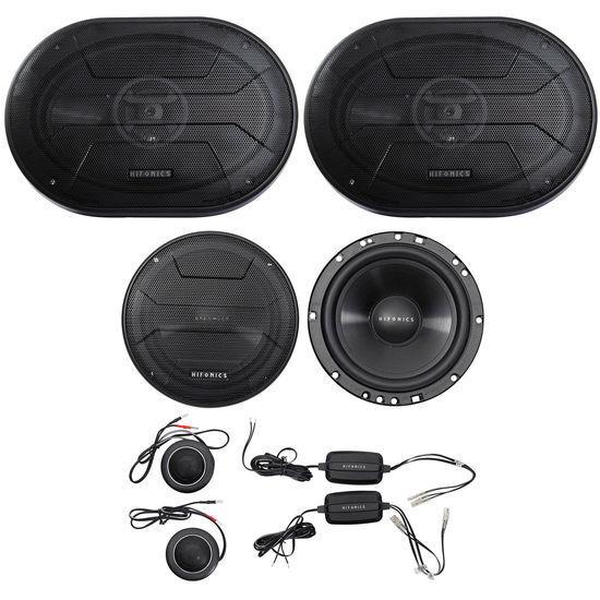 "4 Hifonics ZS693 6x9/"" 1600W Peak RMS Car Audio Power Coaxial Speakers 2 Pairs"