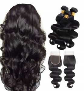 tissage-bresilien-en-lot-3-avec-closure-bresilien-human-hair-bundles-et-closure