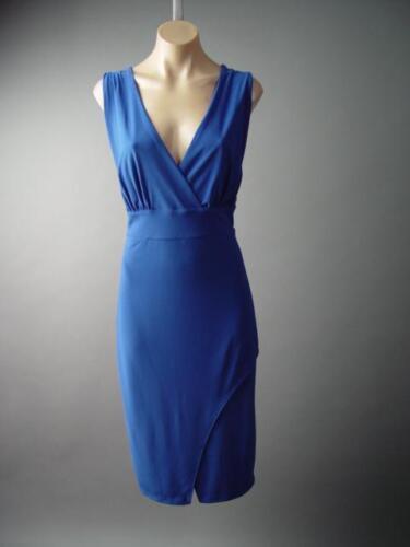 Cobalt Blue Elegant Ladylike Surplice Wrap Cocktail Party 130 mv Dress 2XL 3XL