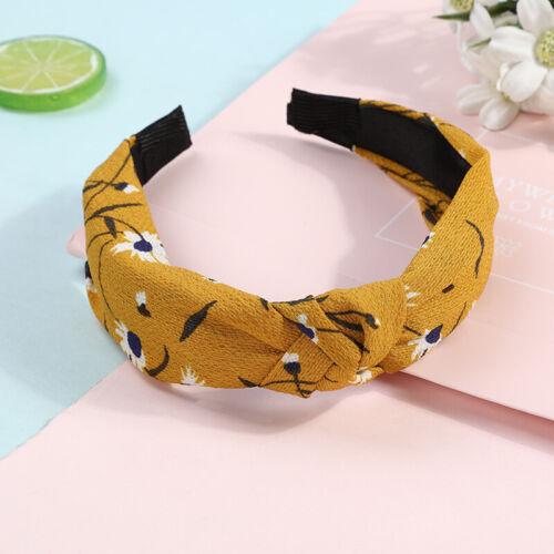 Womens Headband Twist Hairband Knot Cross Headwrap Hair Band Hoop Accessories