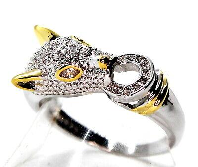 Ring Damen Strass Zirkonia Design Blogger Luxus Panther Carter Leopard Silber925