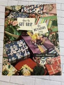 Vintage-1950-How-To-Gift-Wrap-The-Dennison-Way-Booklet