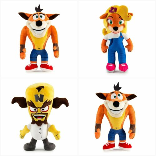 Crash Bandicoot Set of 4 Phunny 8-Inch Plush from Naughty Dog Video Game