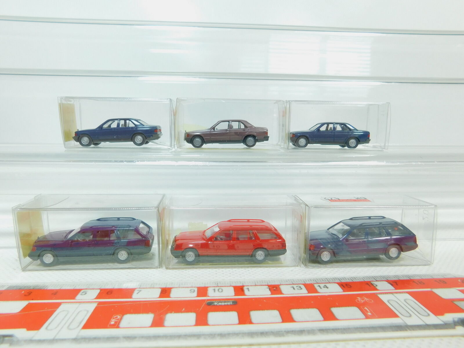 BN99-0, 5 x Wiking H0   1 87 Car Mercedes  154 230 Te +145 190 E, Nip