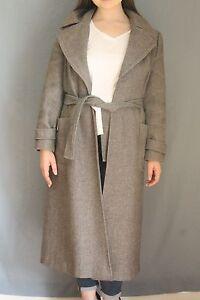 Long et la taille gris poches caban d'hiver taille lien simple moyenne avec à rqranzZ