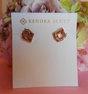 958ec3261 Kendra Scott Kirstie Brown Mother of Pearl Stud Earrings NWT | eBay