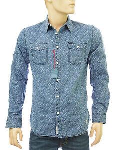 d3297eede99 PEPE JEANS chemise jeans motifs fleurs homme DEACON INDIGO PM301838 ...
