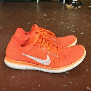 Mediana chupar declarar  Nike Free rn Flyknit 2018 Para Mujer Zapatos Correr Naranja Tamaño 8.5  caminata Workout Gym | eBay