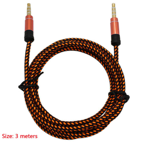 For PC MP3 MP4 Car 3.5mm AUX Auxiliary Cord Male to Male Stereo Audio Cable