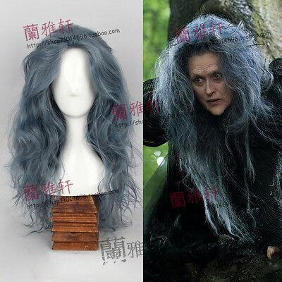 Magic Black Forest Witch Dark Gray Long Wavy Fluffy Cosplay Wig