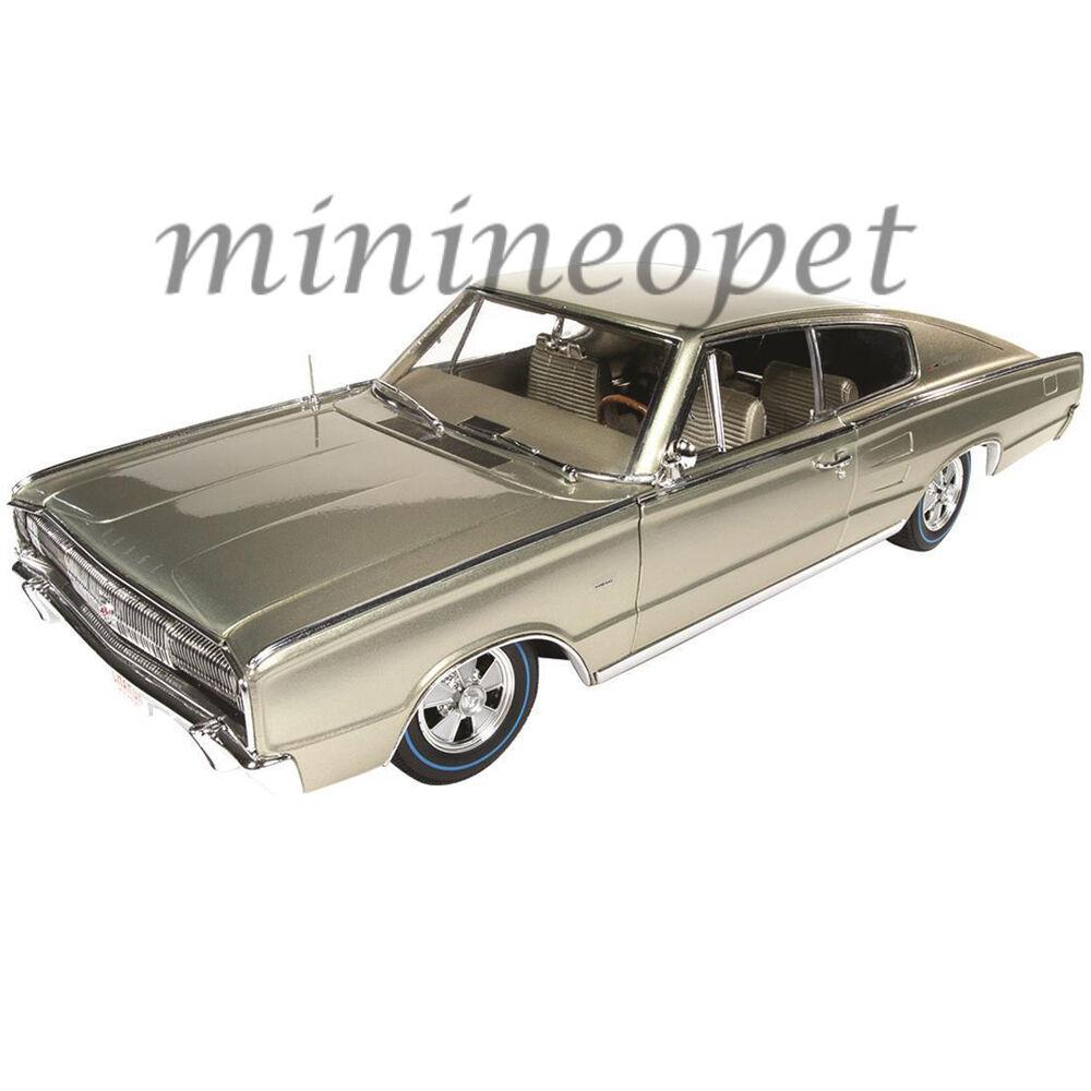 bilVÄRLD AMM1067 50th ANIVERSAR 1966 DODGE CHAGER 426 HEMI 1  18 guld