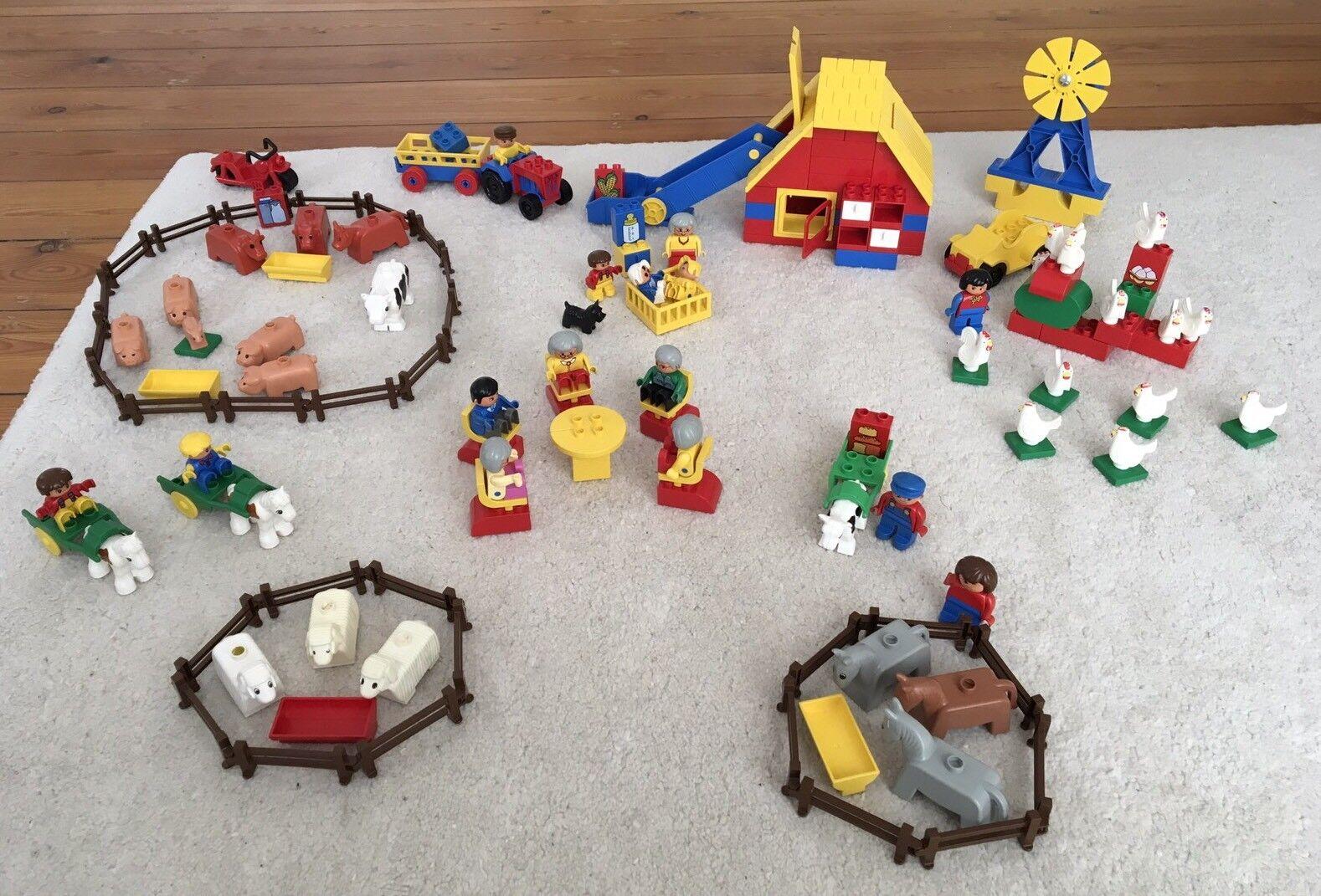 XXL LEGO DUPLO Farm   Bauernhof mit vielen Tieren und Zubehör, s. Aufbaubeispiel