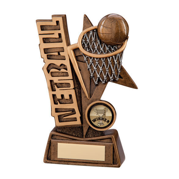 6 x 150mm Netball Trophies (RRP .99 each) with free engraving and postage