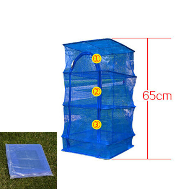 Outdoor Hanging Drying Tableware Food Dry Net 3 Layer Shelf Hang