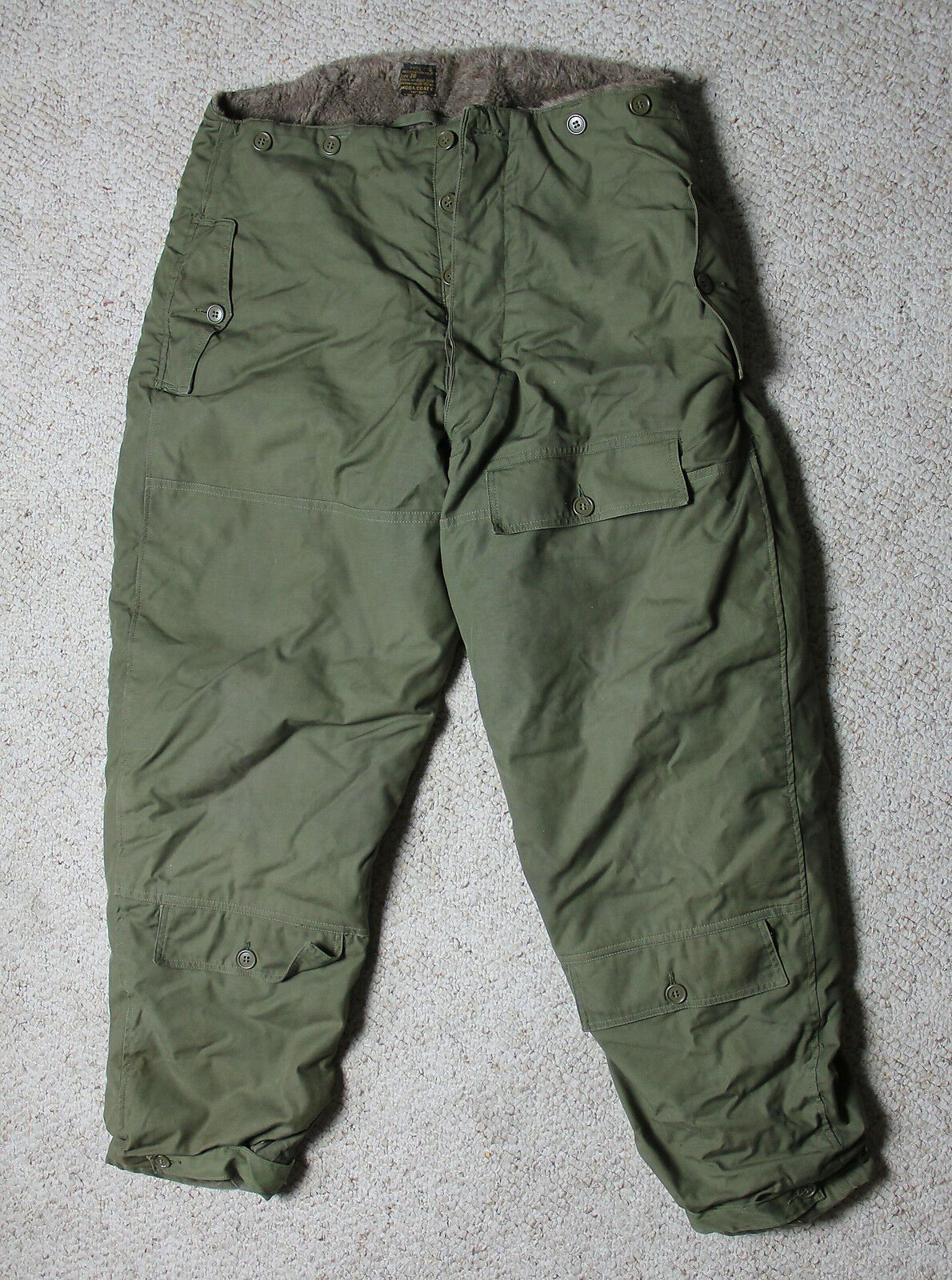WWII Era USAAF A-10 Insulated Cold Weather Trousers Size 38 US Army Air Forces