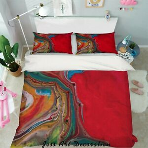 3D-Red-Abstract-Pattern-Quilt-Cover-Duvet-Cover-Comforter-Cover-Single-98
