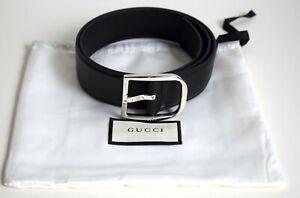 f24b84ea0ab41 Das Bild wird geladen GUCCI-Herren-Original-Guertel-Leder-schwarz-Groesse-90