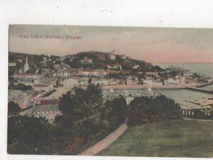 Vane-Hill-amp-Harbour-Torquay-Postcard-528a