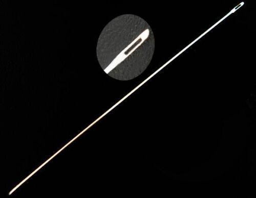 Royaume-Uni. Acier Inoxydable 30 Perles Aiguilles ~ 10 cm x 0.45 mm ~ fil ~ Nylon Cordon 38B