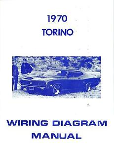 1970 70 ford torino wiring diagram manual ebay