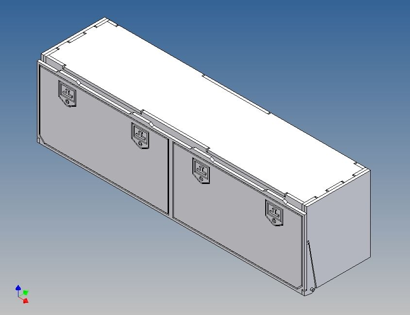 SBK5540160 - Staukiste für TAMIYA LKW M1 14 - 160 lang x 55 hoch x 40 tief