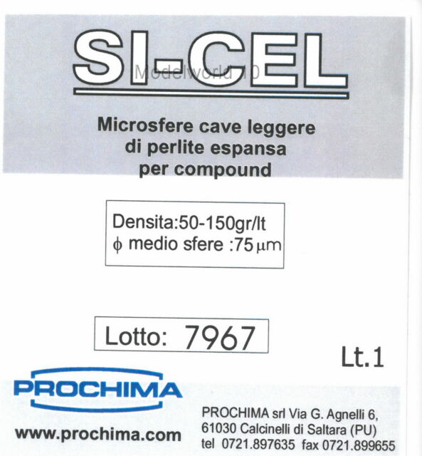 PROCHIMA SI-CEL MICROSFERE CAVE LEGGERE DI PERLITE ESPANSA 1 LT