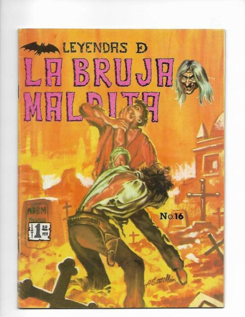 Leyendas De La Bruja Maldita No 16 1971 Spanish Cemetery Cover!