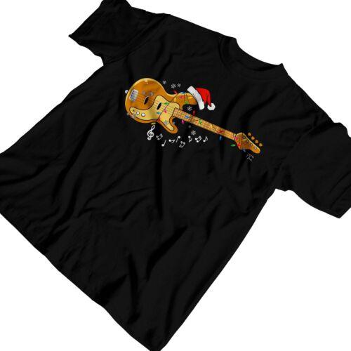 1Tee la musica di Natale da uomo-CHITARRA T-shirt